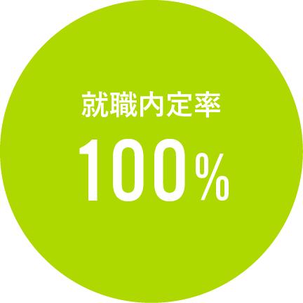 就職内定率100%